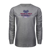 Grey Long Sleeve T Shirt-Track & Field Championship 2015