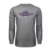 Grey Long Sleeve T Shirt-Womens Water Polo Championship 2015