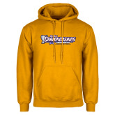 Gold Fleece Hoodie-Big West Championships 2017 Cross Country