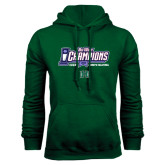 Dark Green Fleece Hood-Big West Champions 2016 Hawaii Womens Volleyball