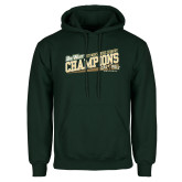 Dark Green Fleece Hood-2017 Mens Cross Country Champions - Cal Poly