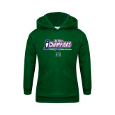 Youth Dark Green Fleece Hoodie-Big West Champions 2016 Hawaii Womens Volleyball
