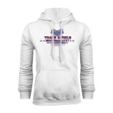 White Fleece Hoodie-Track & Field Championship 2015