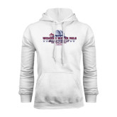 White Fleece Hoodie-Womens Water Polo Championship 2015