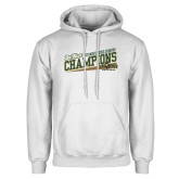 White Fleece Hoodie-2017 Mens Cross Country Champions - Cal Poly