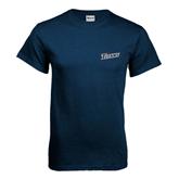 Cal State Fullerton Navy T Shirt-Slanted Titans