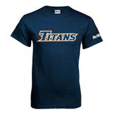 Cal State Fullerton Navy T Shirt-Titans