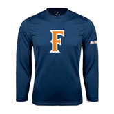 Cal State Fullerton Performance Navy Longsleeve Shirt-F