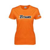 Cal State Fullerton Ladies Orange T Shirt-Titans