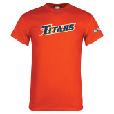 Cal State Fullerton Orange T Shirt-Slanted Titans