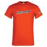 Cal State Fullerton Orange T Shirt-Slanted Cal State Fullerton