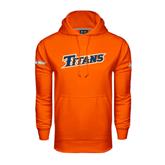 Cal State Fullerton Under Armour Orange Performance Sweats Team Hood-Slanted Titans