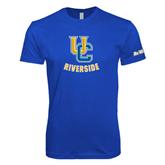 UC Riverside Next Level SoftStyle Royal T Shirt-Interlocking UC Riverside