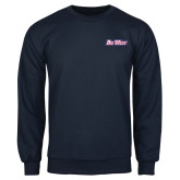 Navy Fleece Crew-