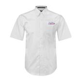 White Twill Button Down Short Sleeve-