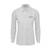 Ladies White Oxford Shirt-