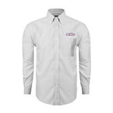 Mens White Oxford Long Sleeve Shirt-