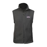Fleece Full Zip Charcoal Vest-