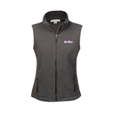 Ladies Fleece Full Zip Charcoal Vest-