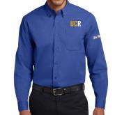 UC Riverside Royal Twill Button Down Long Sleeve-UCR