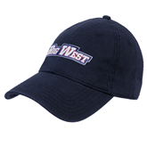 Navy Twill Unstructured Low Profile Hat-