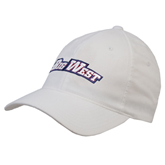 White OttoFlex Unstructured Low Profile Hat-