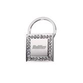 Crystal Studded Square Key Holder-Engraved