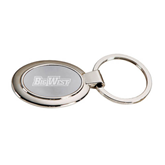 Dual Tone Mirrored Oval Key Holder-Engraved