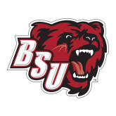 Large Decal-BSU w/ Bear Head, 12 inches wide