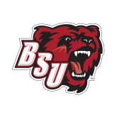 Small Decal-BSU w/ Bear Head, 6 inches wide