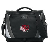Slope Black/Grey Compu Messenger Bag-BSU w/ Bear Head