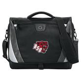 Slope Black/Grey Compu Messenger Bag-BSU w/ Bear Head