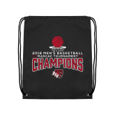 Black Drawstring Backpack-2018 Mens Basketball Champions