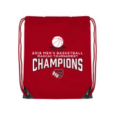 Red Drawstring Backpack-2018 Mens Basketball Champions