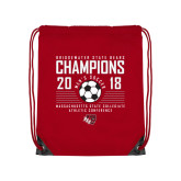 Red Drawstring Backpack-2018 MSCAC Mens Soccer Champions