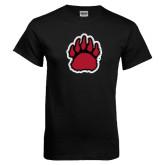 Black T Shirt-Red, Black and Gray Bear Paw