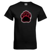 Black T Shirt-Red and Black Bear Paw