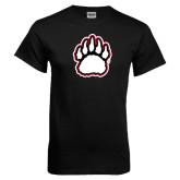 Black T Shirt-White and Black Bear Paw