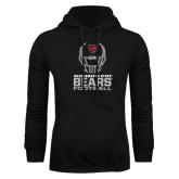 Black Fleece Hoodie-Football Helmet Design
