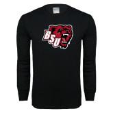 Black Long Sleeve T Shirt-BSU w/ Bear Head