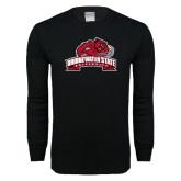 Black Long Sleeve T Shirt-Bridgewater State University w/ Bear