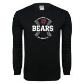 Black Long Sleeve T Shirt-Baseball Seams Design