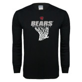 Black Long Sleeve T Shirt-Basketball Net Design