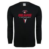 Black Long Sleeve T Shirt-Geometric Lacrosse Design