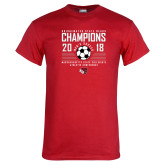 Red T Shirt-2018 MSCAC Mens Soccer Champions