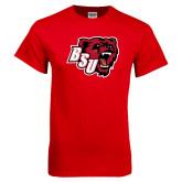 Red T Shirt-BSU w/ Bear Head