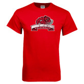 Red T Shirt-Bridgewater State University w/ Bear