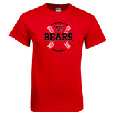 Red T Shirt-Baseball Seams Design