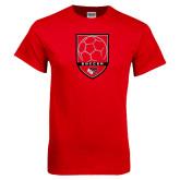 Red T Shirt-Soccer Shield Design