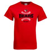 Red T Shirt-Softball Seams Design